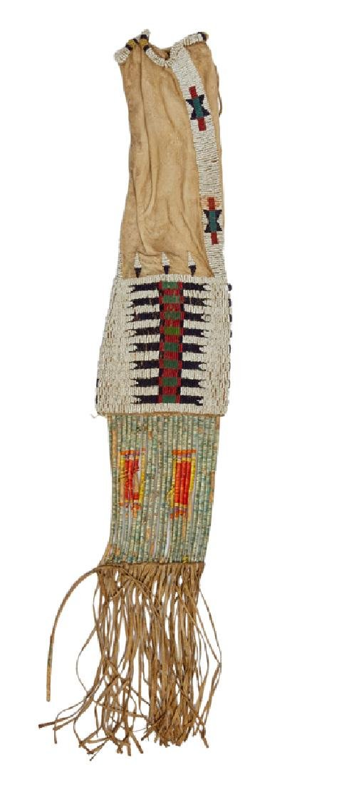 A beaded and quilled Cheyenne / Plains Indian pipe bag