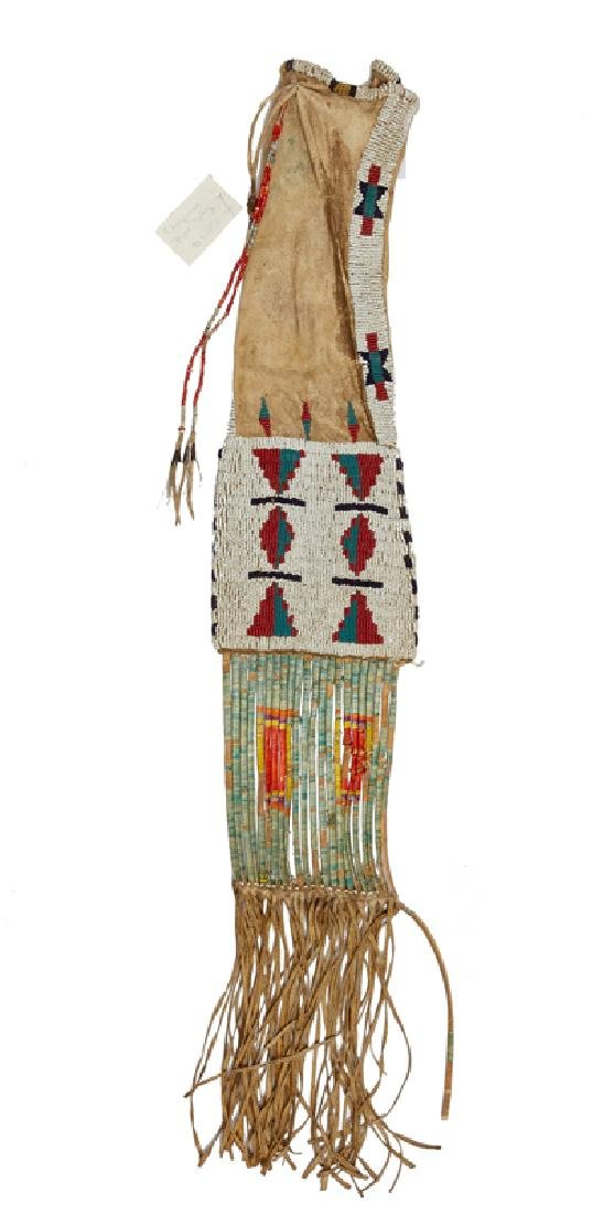 A beaded and quilled Cheyenne / Plains Indian pipe bag - 2