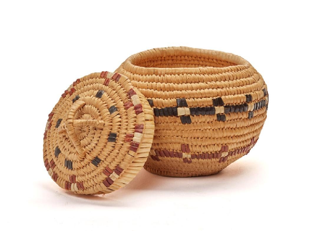 Five Pacific Northwest Coast Native American baskets - 5
