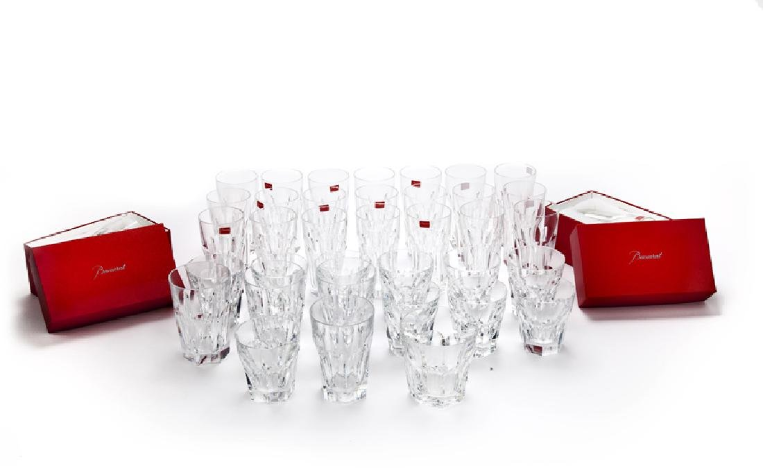 A group of Baccarat ''Harcourt'' crystal glassware