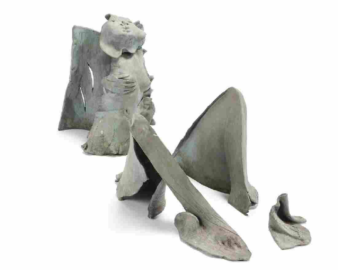 A Contemporary bronze figurative sculpture