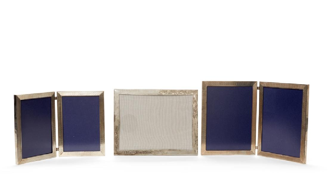 Three Asprey sterling silver picture frames