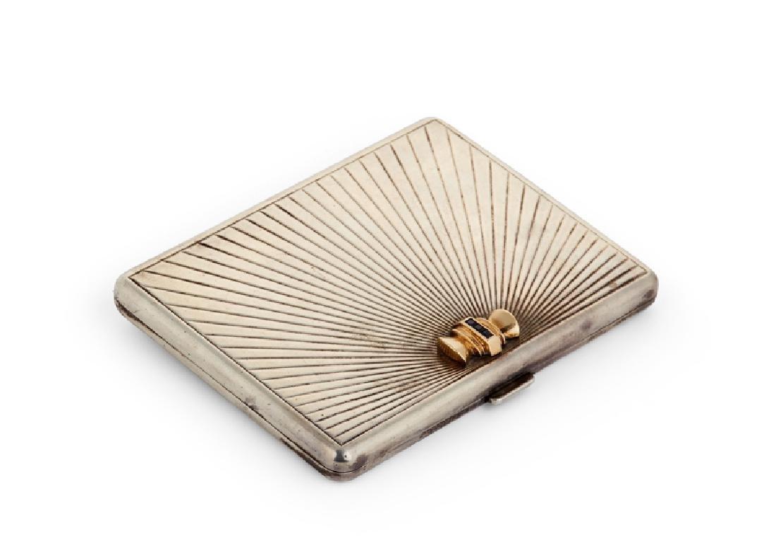 A Tiffany & Co. sterling silver cigarette case