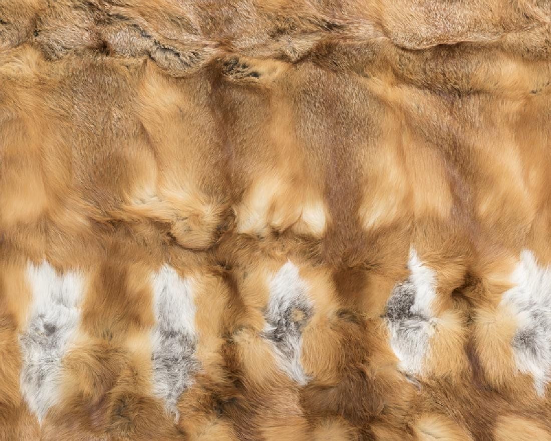 A red fox fur throw blanket - 2