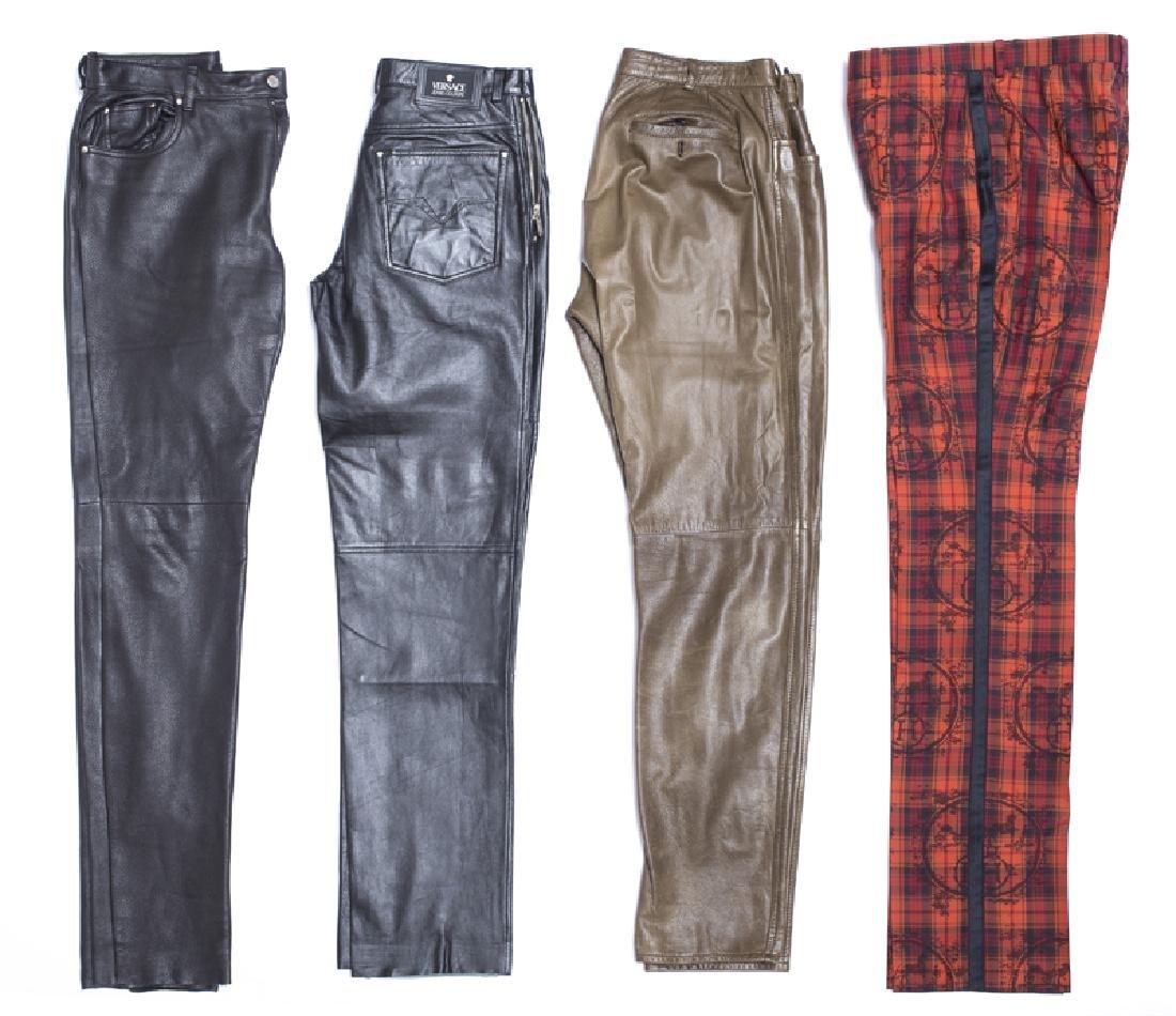 A group of designer women's pants
