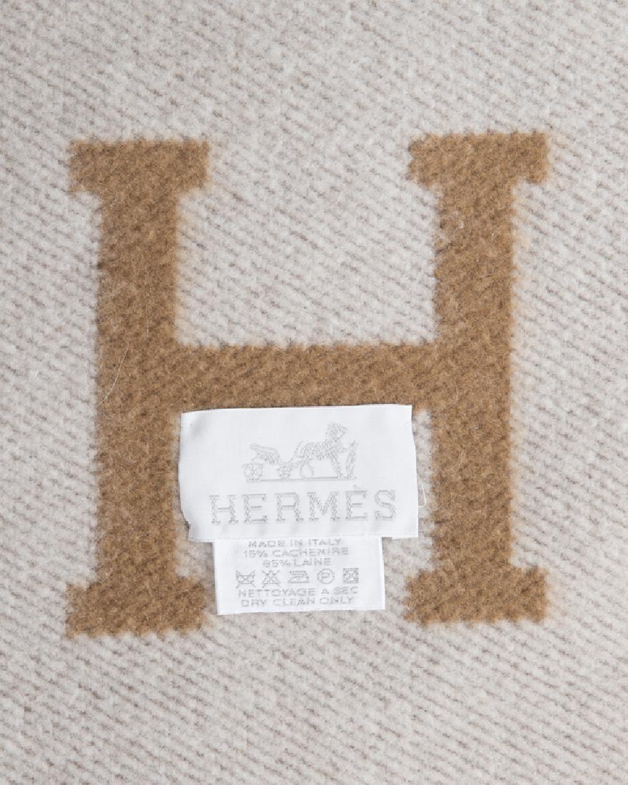 Two Hermes wool monogram blankets - 2