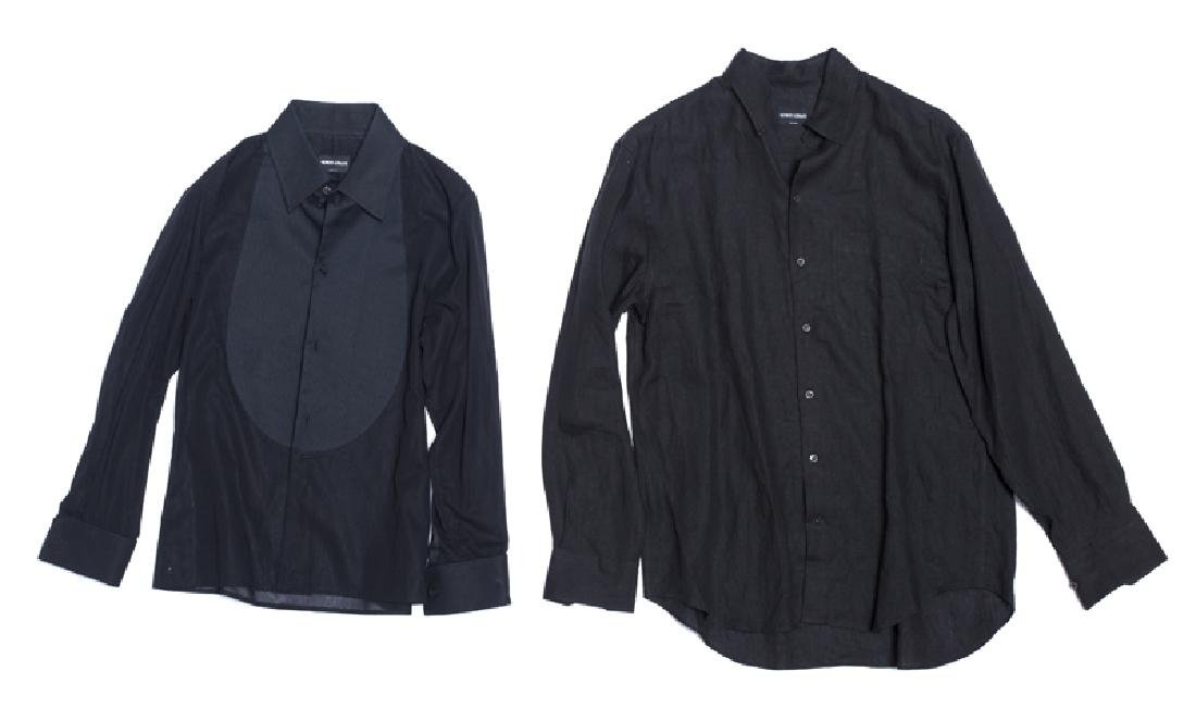 A group of ten Armani shirts