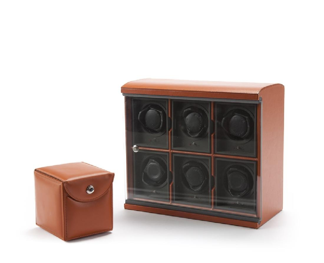 English wrist watch winder box, Underwood