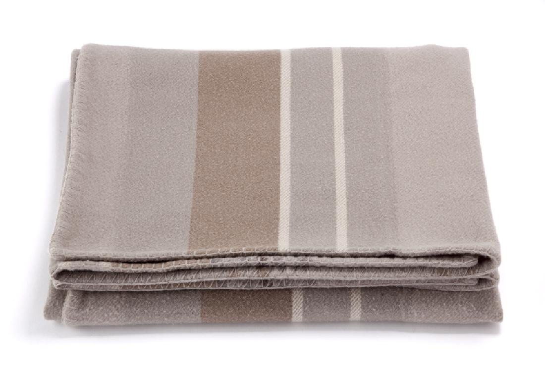 A Hermes wool and cashmere blanket