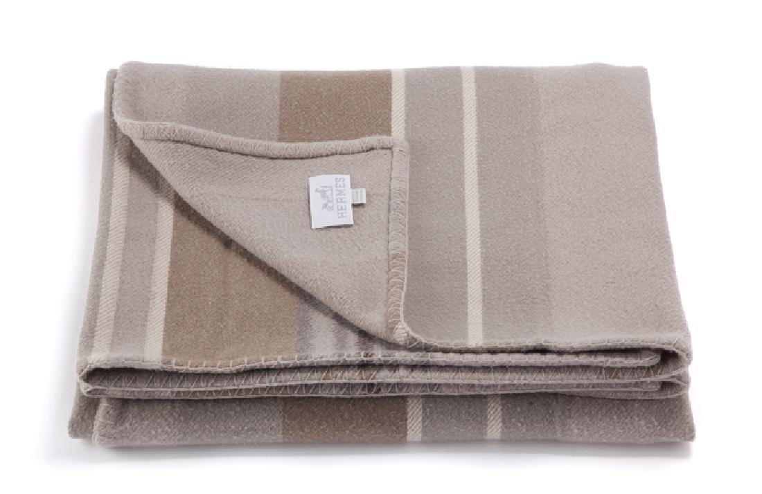 A Hermes wool and cashmere blanket - 2