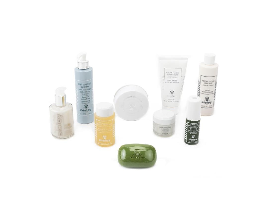 A collection of Sisley beauty products