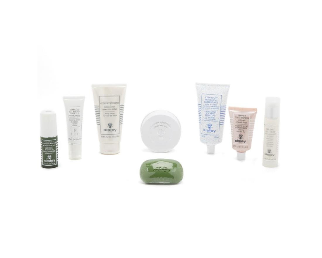 A group of Sisley beauty products