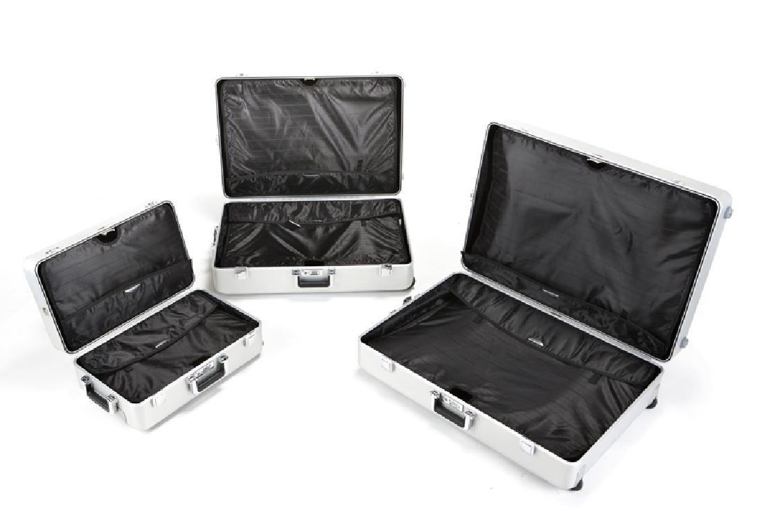Three Zero Halliburton aluminum suitcases - 3