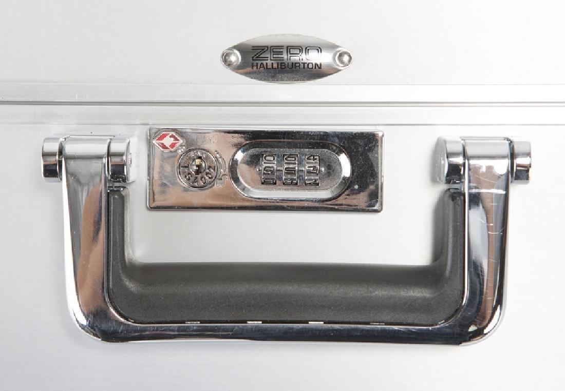 Three Zero Halliburton aluminum suitcases - 4