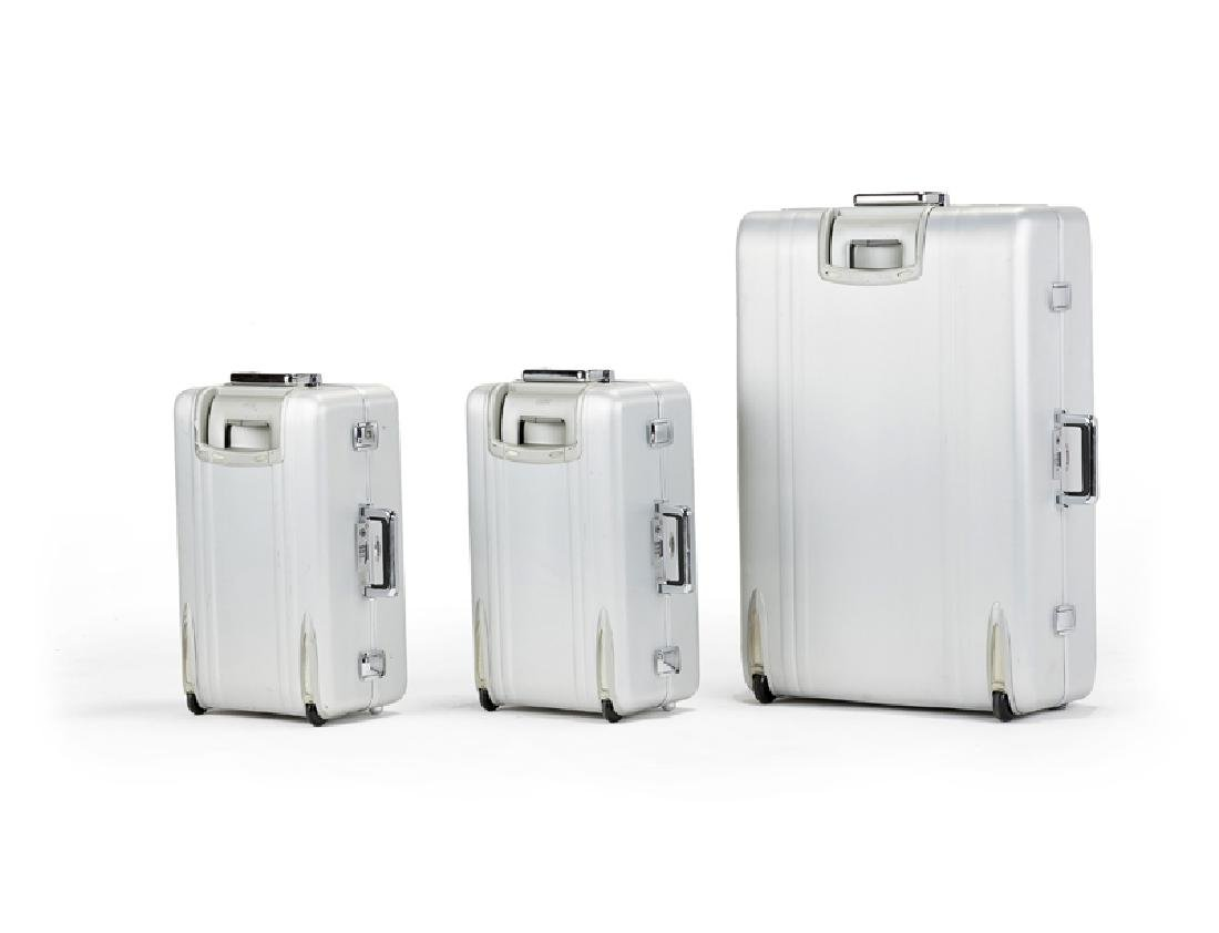 Three Zero Halliburton aluminum suitcases - 2