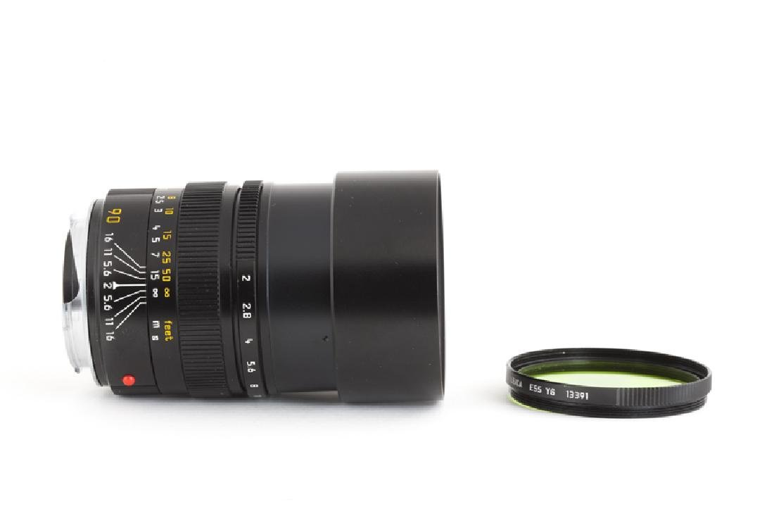 A Leica 90mm f/2 Summichron-M lens