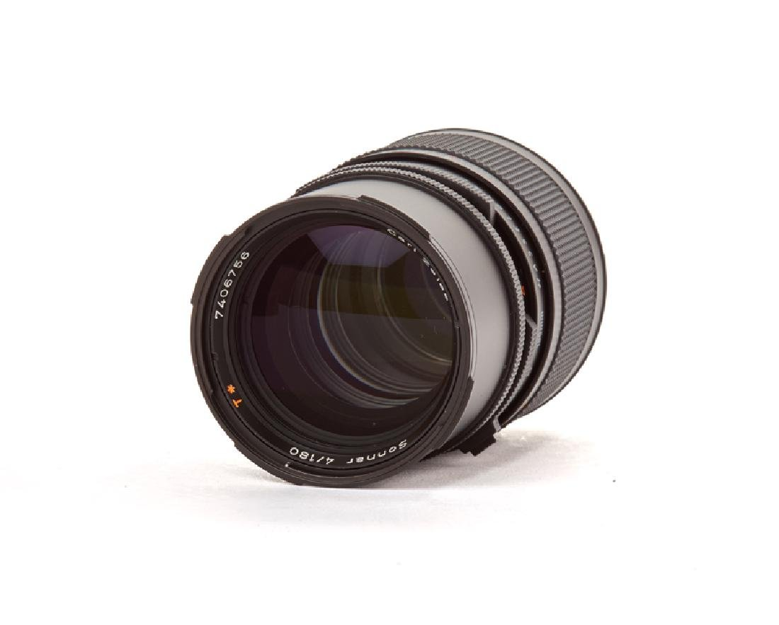 Two Hasselblad 180mm and 50mm lenses with accessories - 2