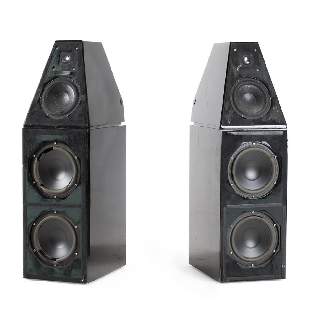 A pair of Wilson Audio WATT & Puppy Series V speakers