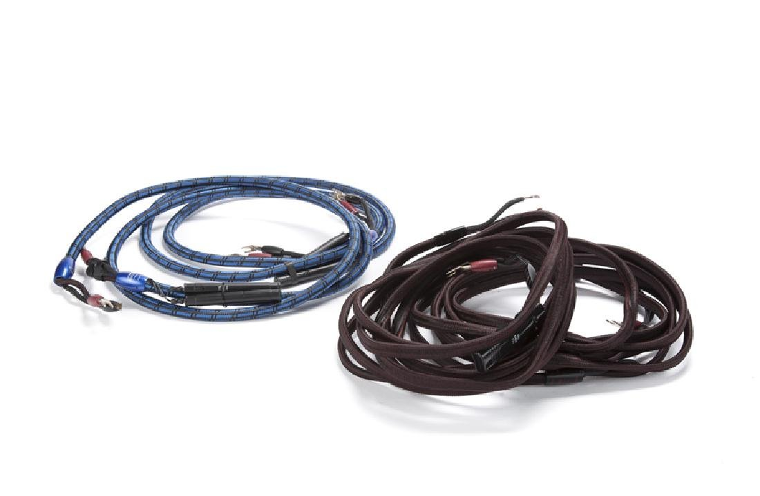 Two pairs of Audioquest speaker cables