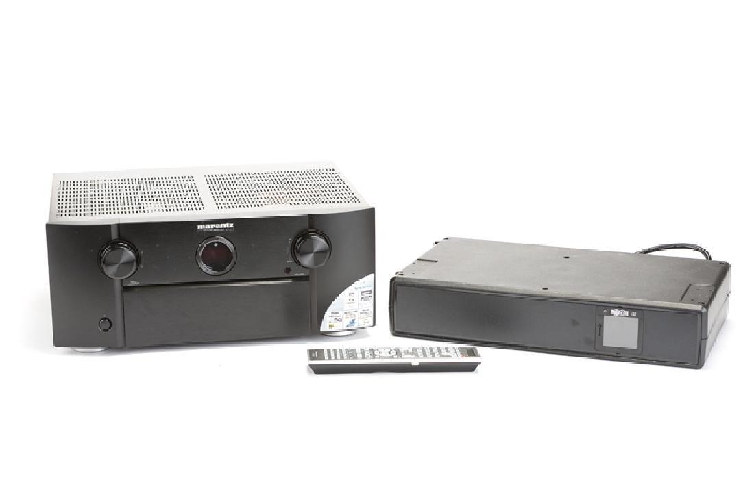 A Marantz SR7008 receiver with Tripp Lite 1500 LCD