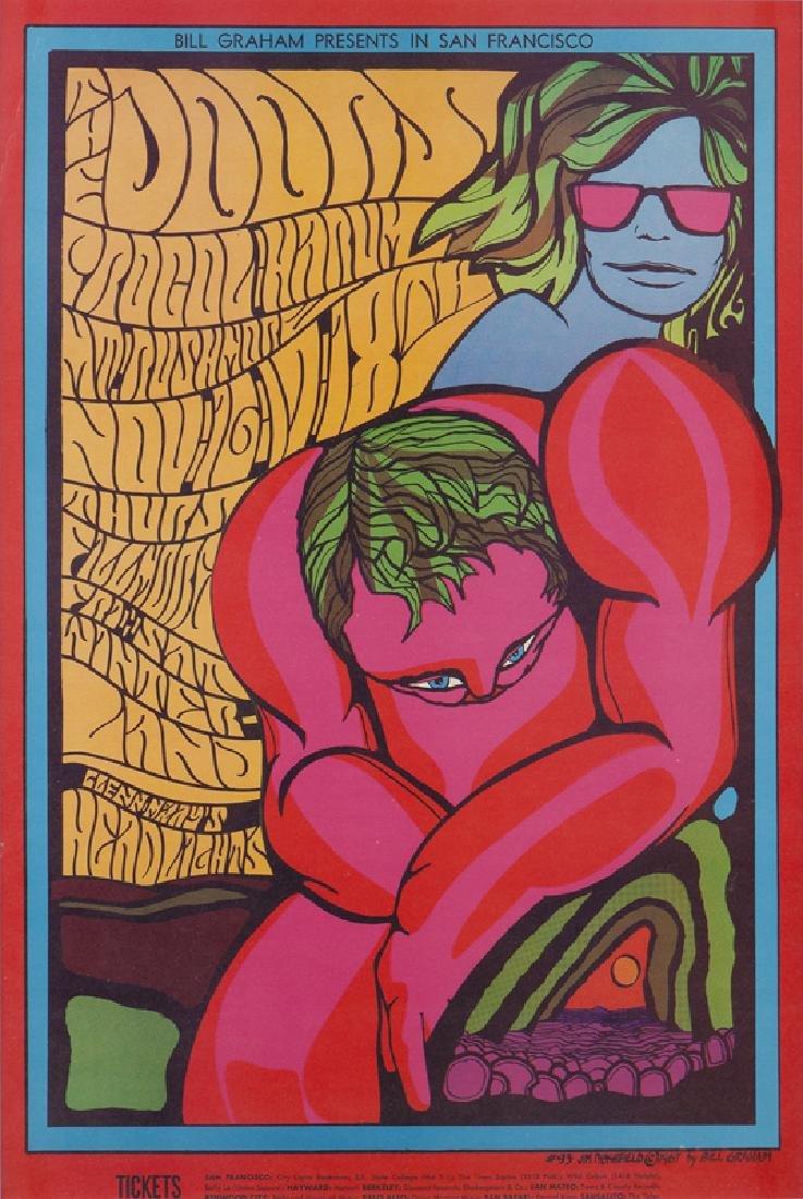 Bill Graham Fillmore Auditorium Poster by Jim