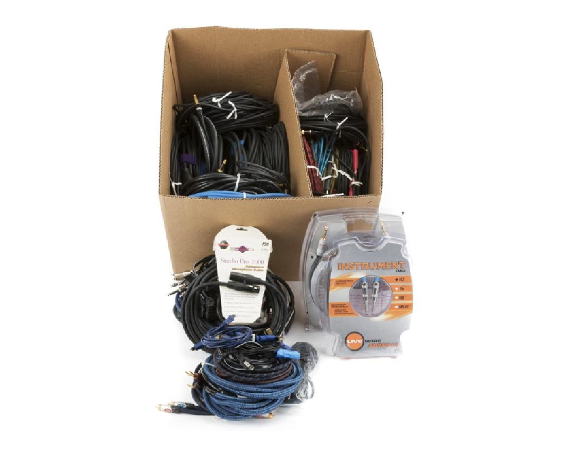 A box of assorted cables - 2