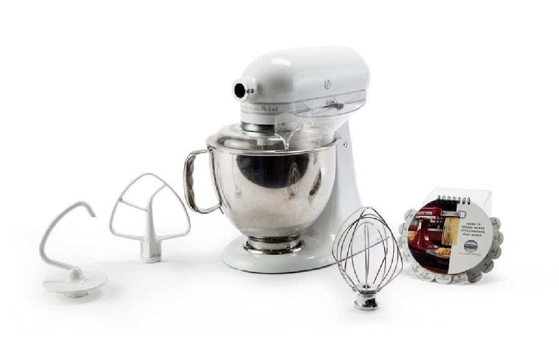 A KitchenAid Artisan stand mixer, 5-Quart, White