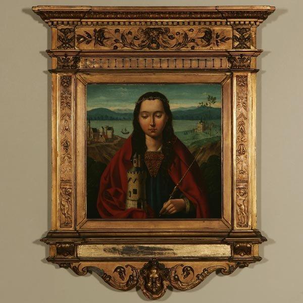 1144: MANNER OF JOOS VAN CLEVE, SAINT BARBARA, OIL