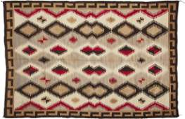A room-sized Navajo regional rug