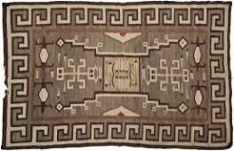 A Navajo pictorial area rug