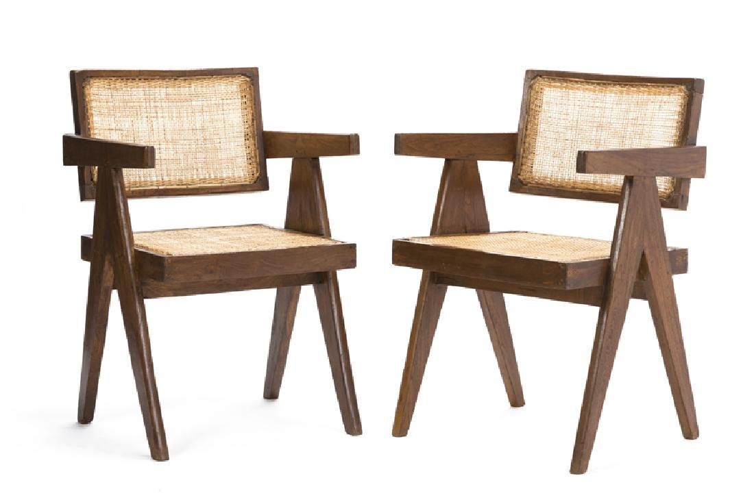 A pair of Pierre Jeanneret PJ-SI-28-A ''office cane