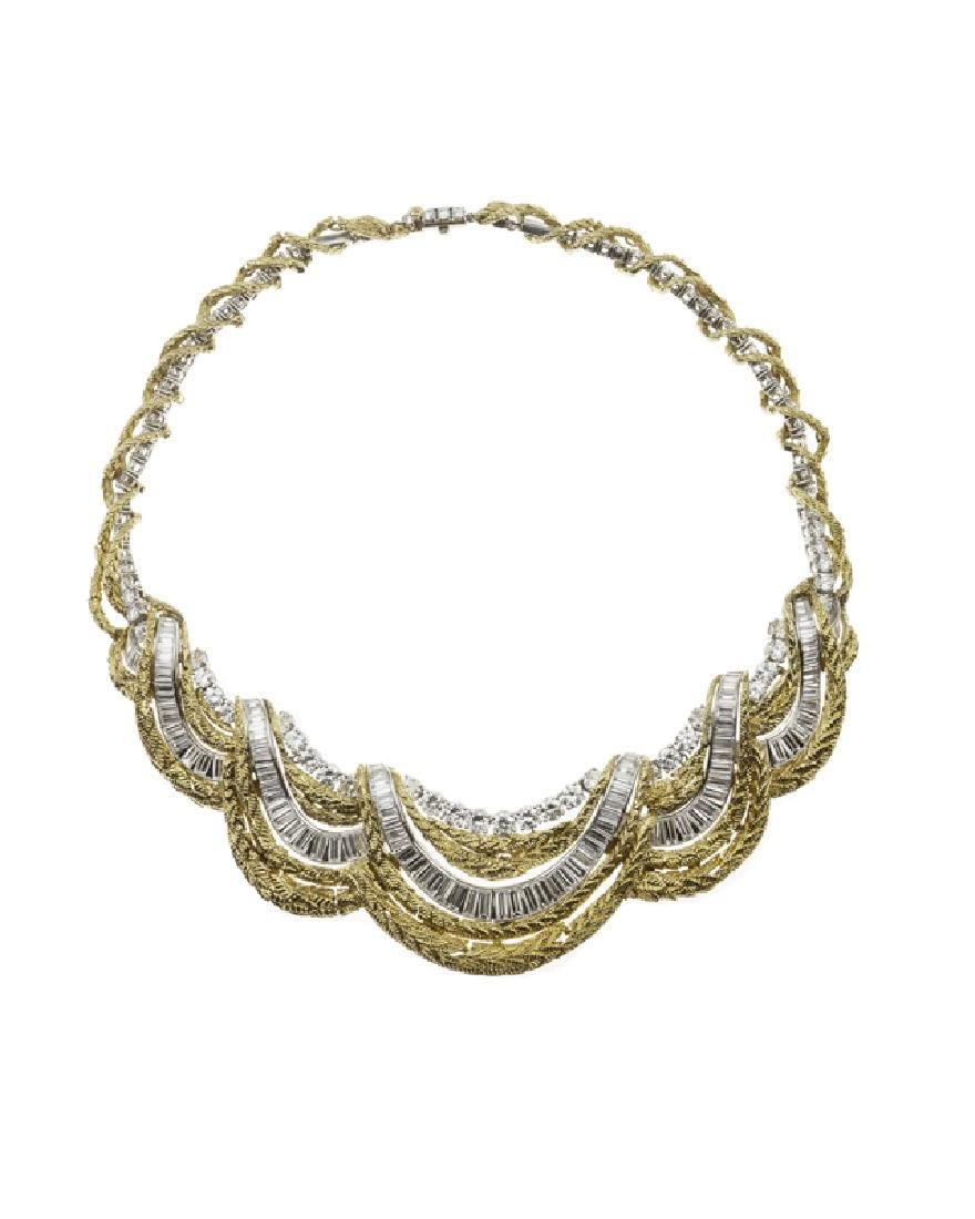 A diamond, platinum and gold necklace, David Webb