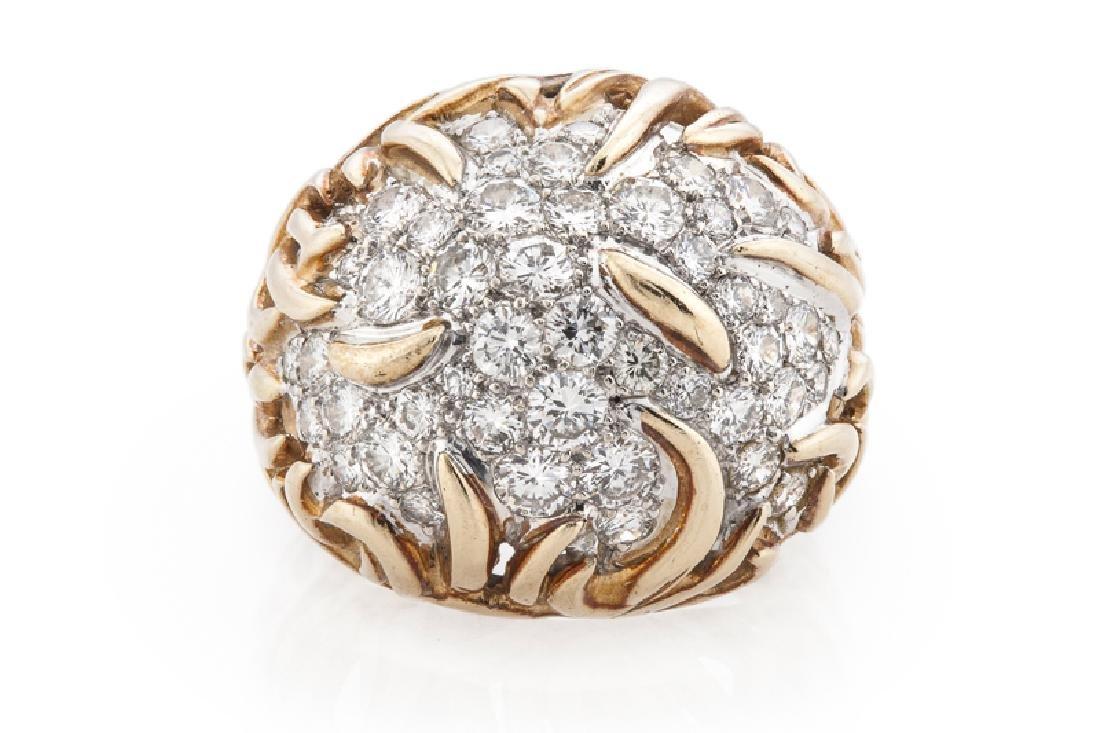 A diamond bombe ring