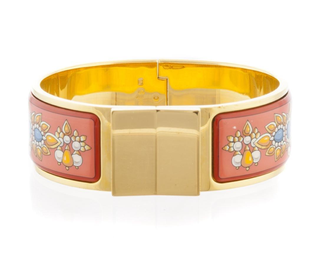 An enamel hinged bangle bracelet, Hermes