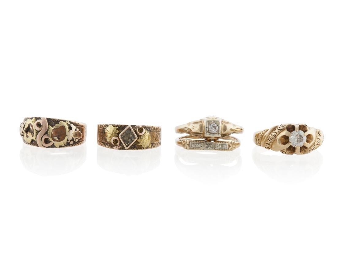 Four Antique rings