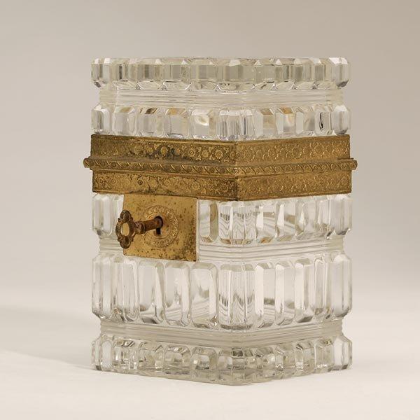 2004: A CHARLES X ORMOLU AND CUT GLASS DRESSER BOX