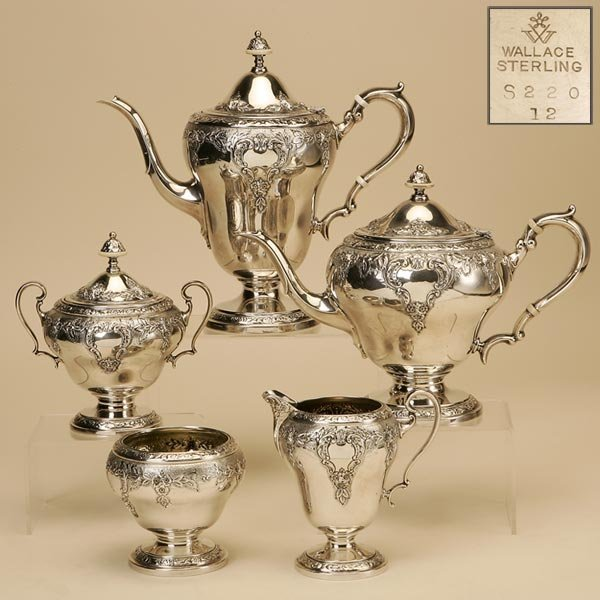 2021: AN ASSEMBLED WALLACE STERLING SILVER TEA SERVICE