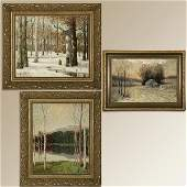2056 GROUP OF THREE AMERICAN IMPRESSIONIST PAINTINGS