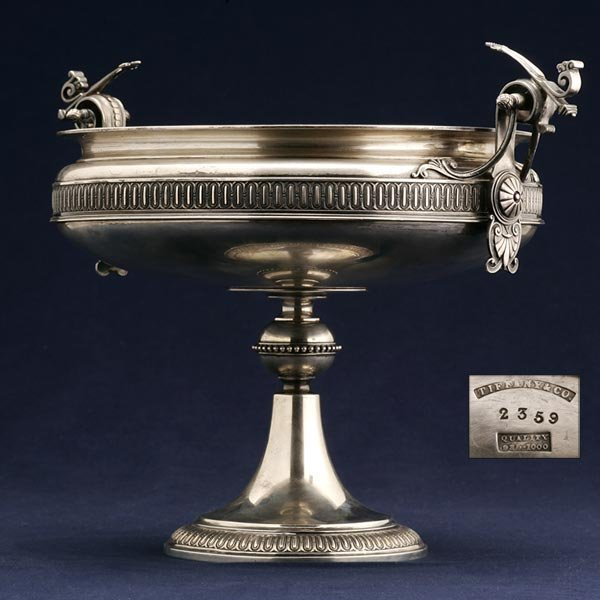 2219: A TIFFANY & CO AESTHETIC MOVEMENT STERLING TAZZA