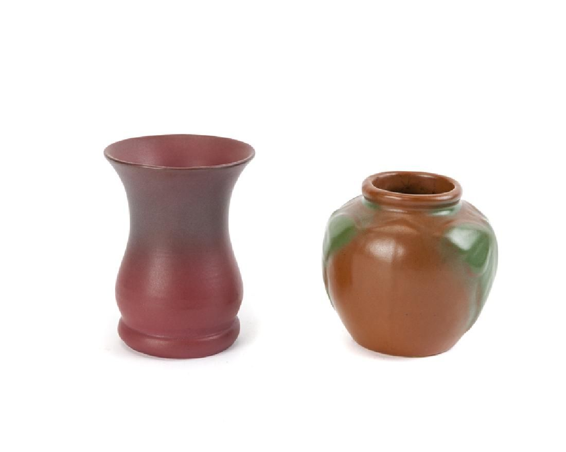 Two small Van Briggle art pottery vases