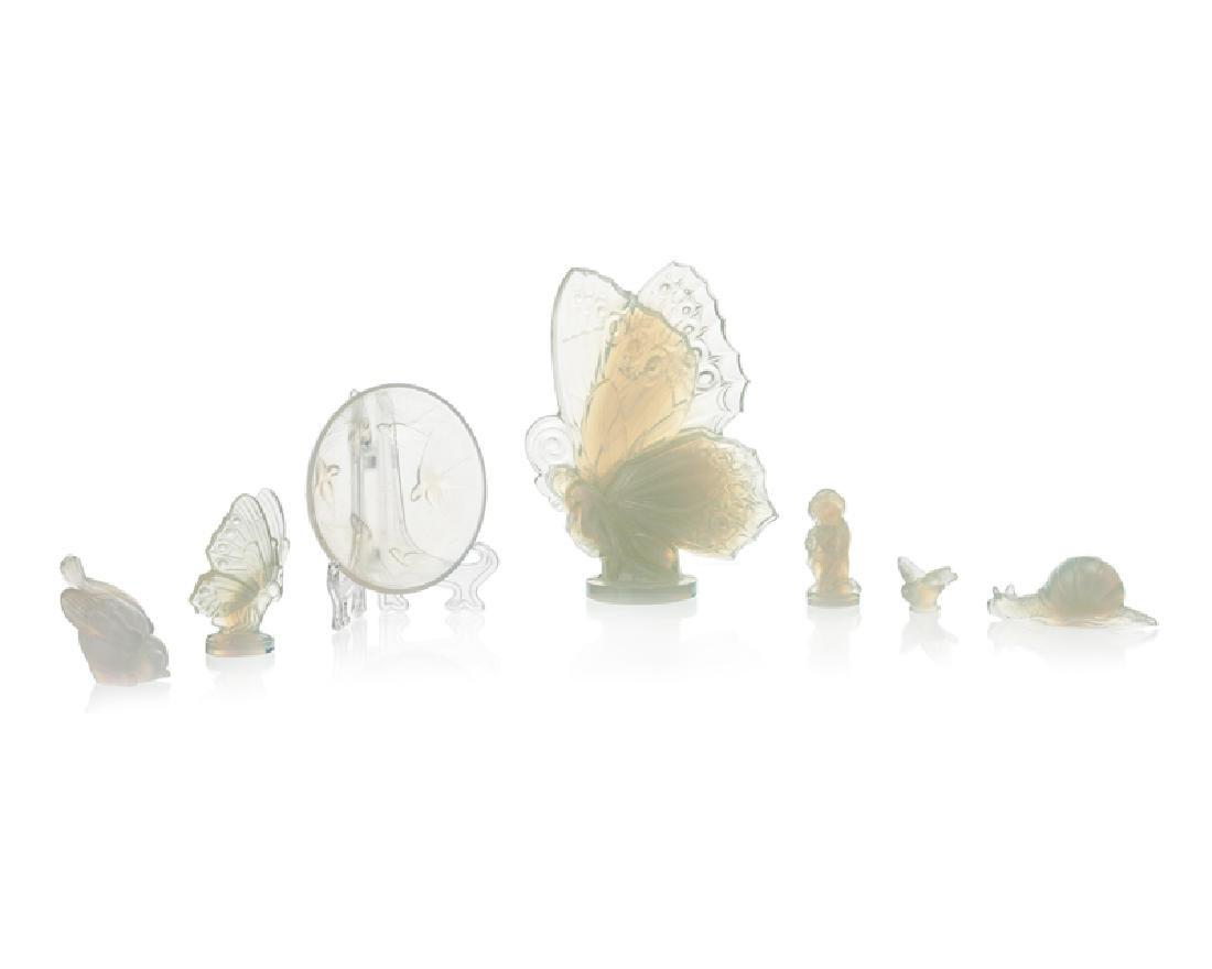 A group of Sabino iridescent art glass