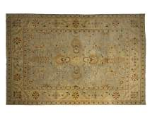 A Persian-style area rug