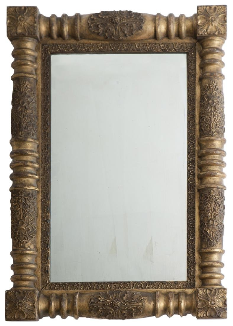 A late Federal-style giltwood wall mirror