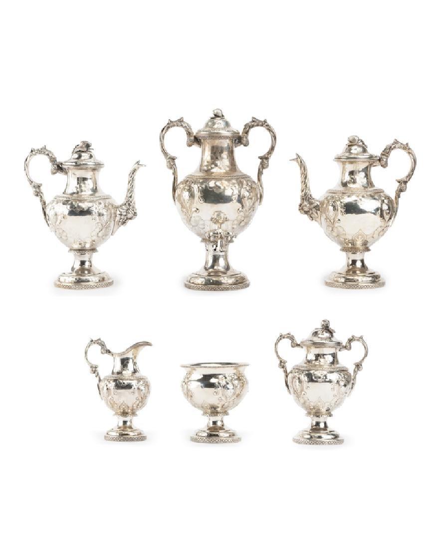 An H.P. Horton American coin silver tea set
