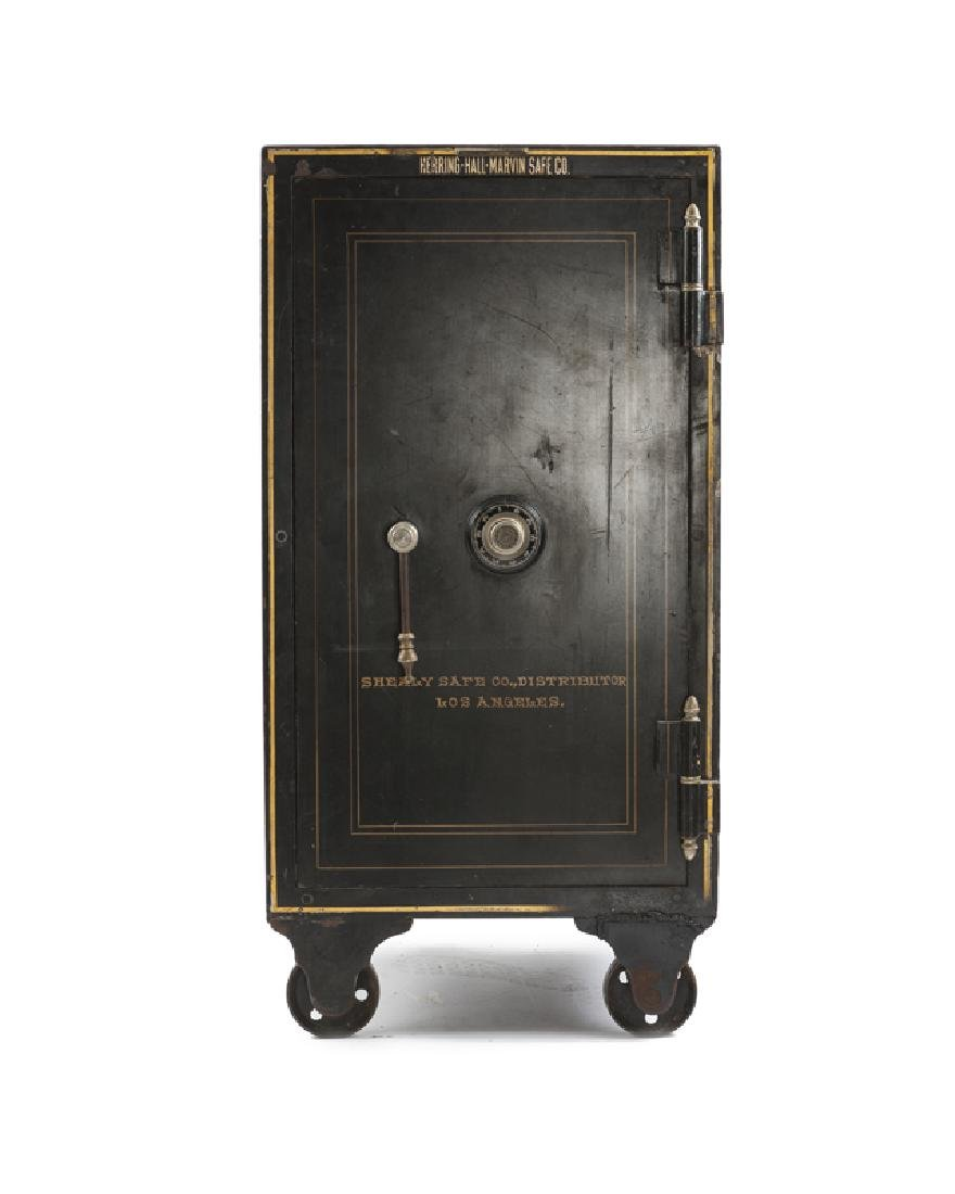 A Herring-Hall-Marvin floor double combination safe