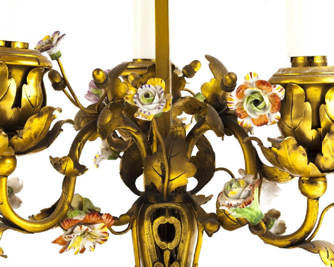 A French gilt-bronze and porcelain table lamp - 2