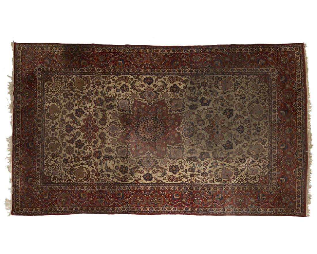An Isfahan-variation Persian room-size rug