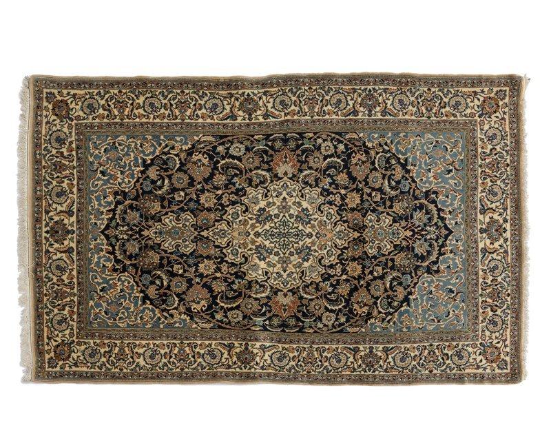 A Persian Nain area rug