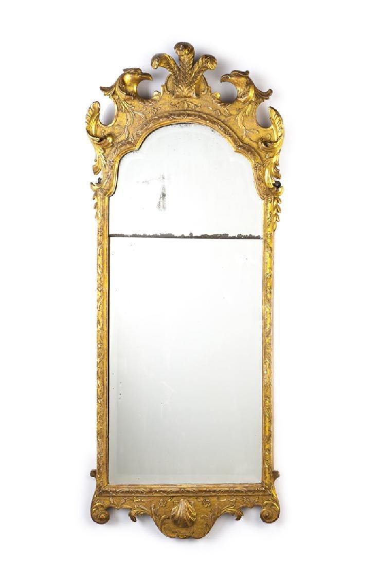 A George II-style giltwood mirror