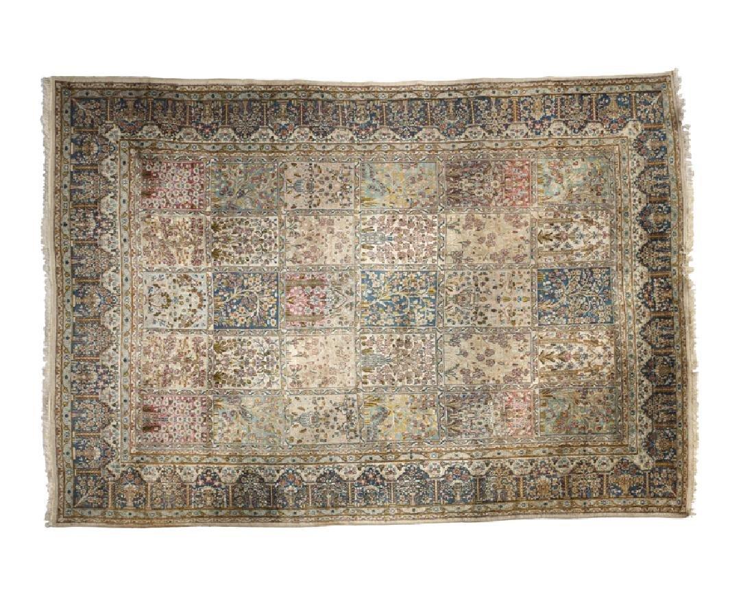 A Persian Kirman garden variety rug